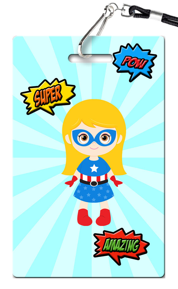 Superhero Girl Birthday Invitation