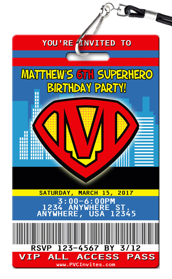 Superman Birthday Invitation