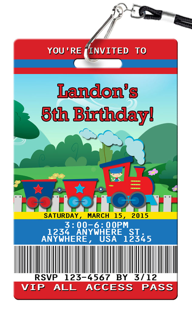 Train Birthday Invitation