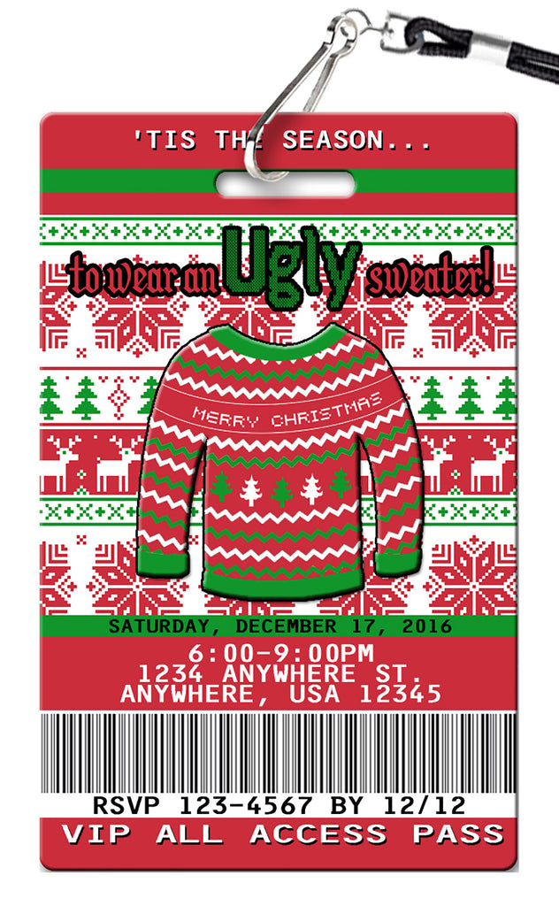 Ugly Sweater Birthday Invitations