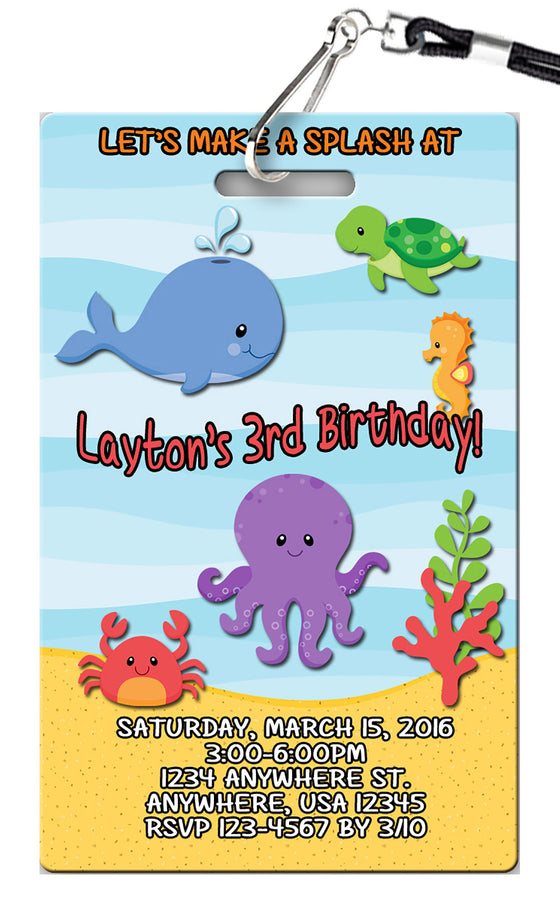 Under the Sea Birthday Invitation
