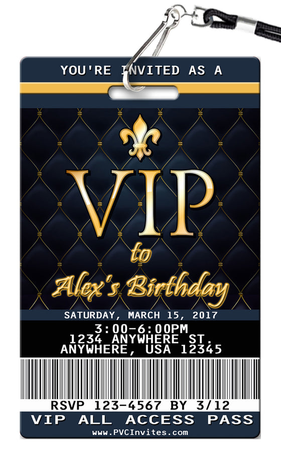 VIP Birthday Invitations