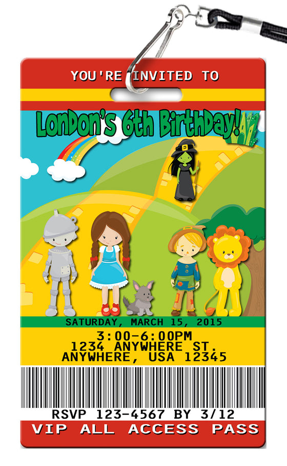 Wizard of Oz Birthday Invitation