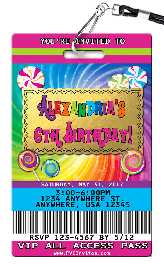 Wonka Birthday Invitation