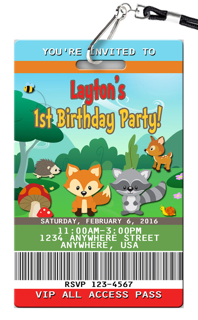 Woodlands Birthday Invitation