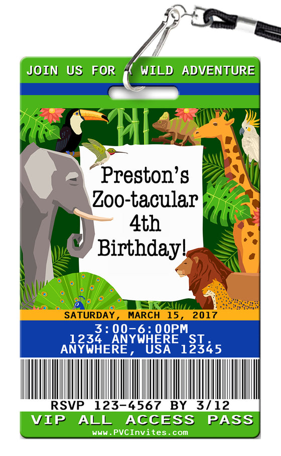 Zoo Birthday Invitations