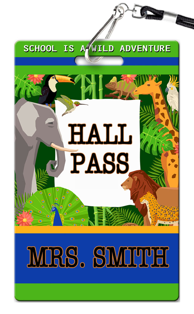 Zoo Theme Hall Passes (Set of 10)