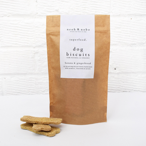 Banana + Gingerbread Dog Biscuits - 100g