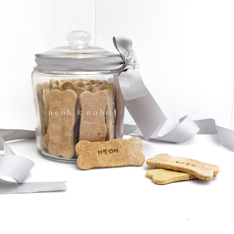 Banana + Gingerbread Personalised Dog Biscuit Canister