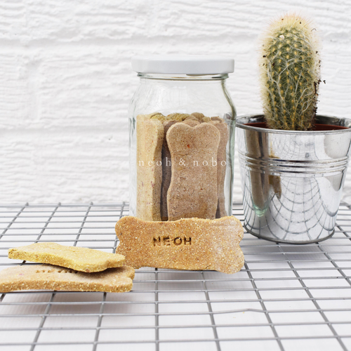 Banana + Gingerbread Personalised Dog Biscuit Gift Jar
