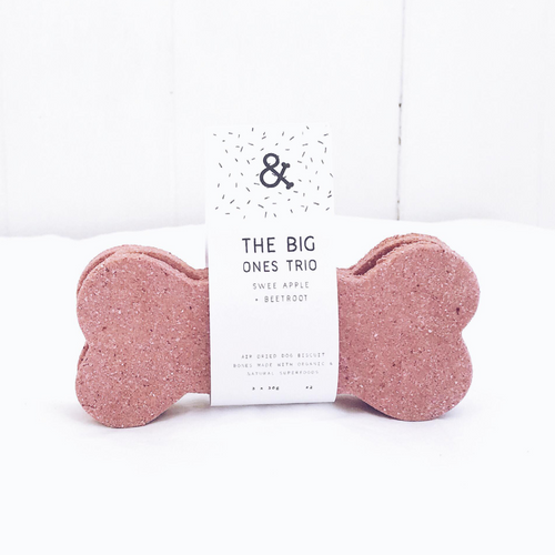 Sweet Apple + Beetroot The Big One Dog Biscuit Bone Trio
