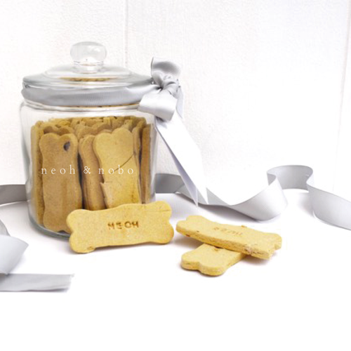 Peanut Butter + Blueberry Personalised Dog Biscuit Canister