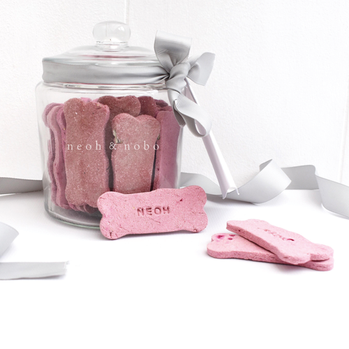 Sweet Apple + Beetroot Personalised Dog Biscuit Canister