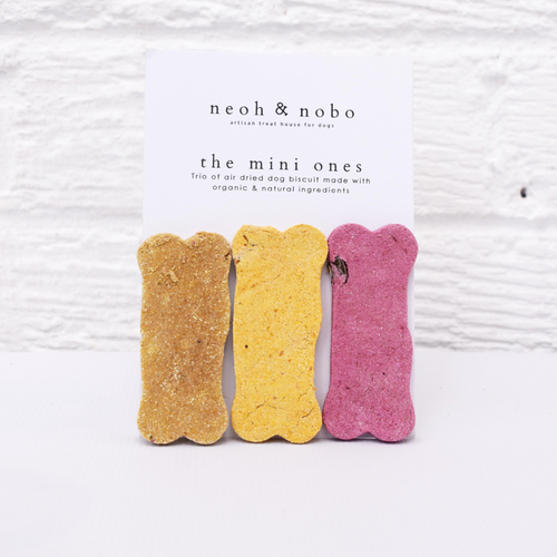 The Mini Ones Dog Biscuit Trio