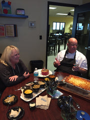 Here's Kim sitting down with Culinary Specialist Brett Ryan in Louisville