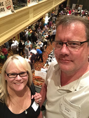 Kim and David at the food show. What a crowd!
