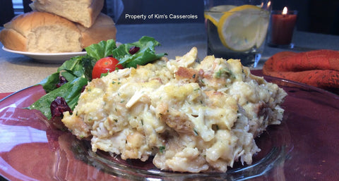 Holiday Chicken & Dressing Casserole