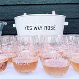 Yes Way Rosé Stemless Plastic Wine Glass (Set of 2)