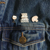 Yes Way Rosé Logo Pin