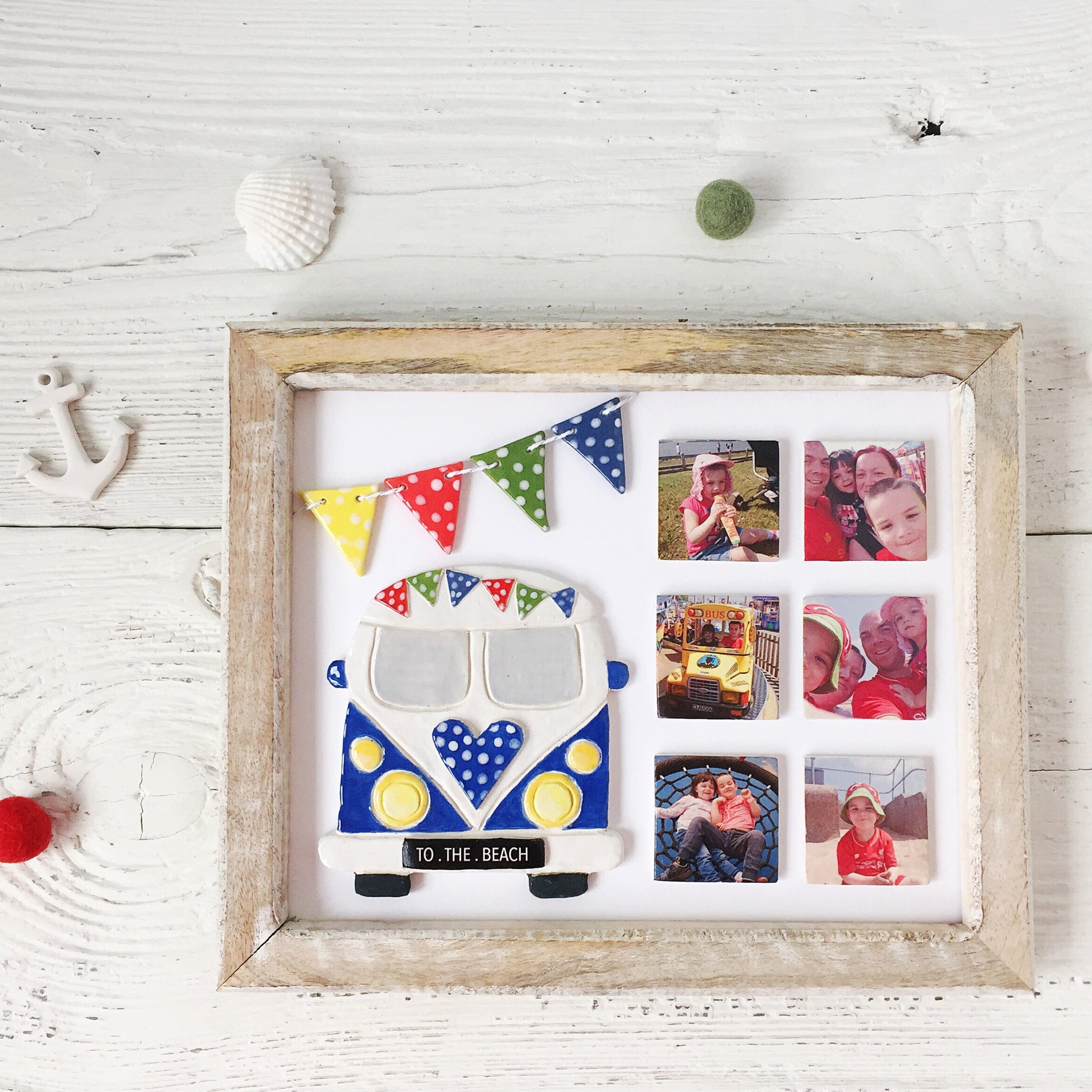 Periwinkle and Clay Campervan Themed Frame - The original