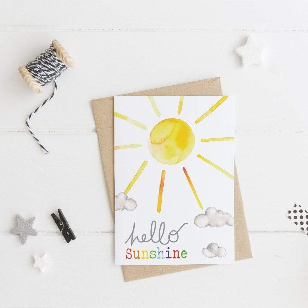 Periwinkle and Clay Greeting Cards Hello Sunshine Card