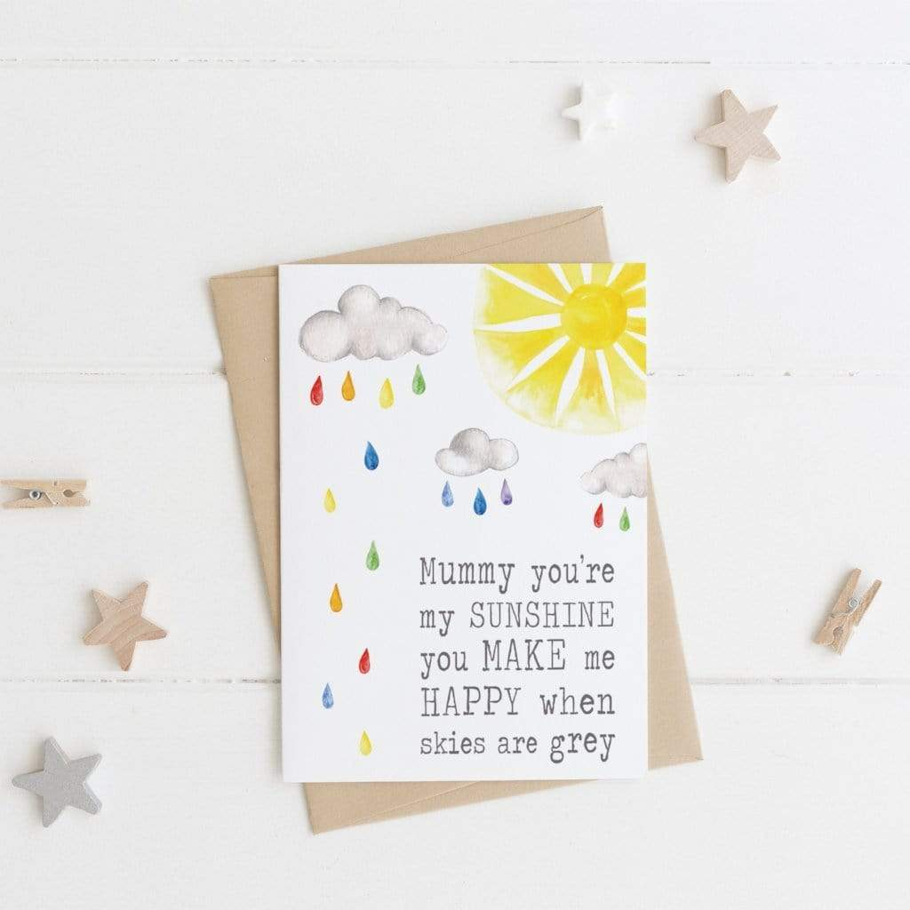 Periwinkle and Clay Greeting Cards Mummy Sunshine Card