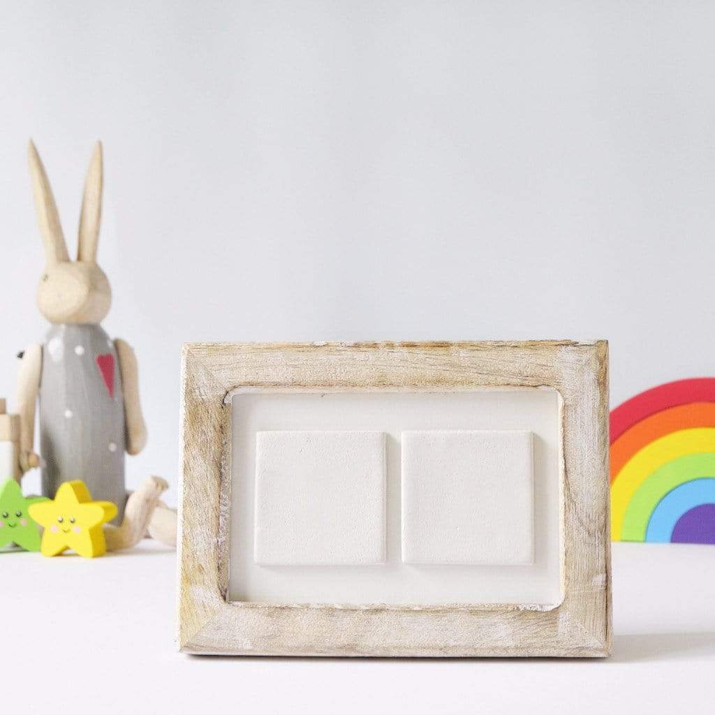 Periwinkle and Clay Photo + Message Tiles You're Our Sunshine Clay Tile Photo Frame