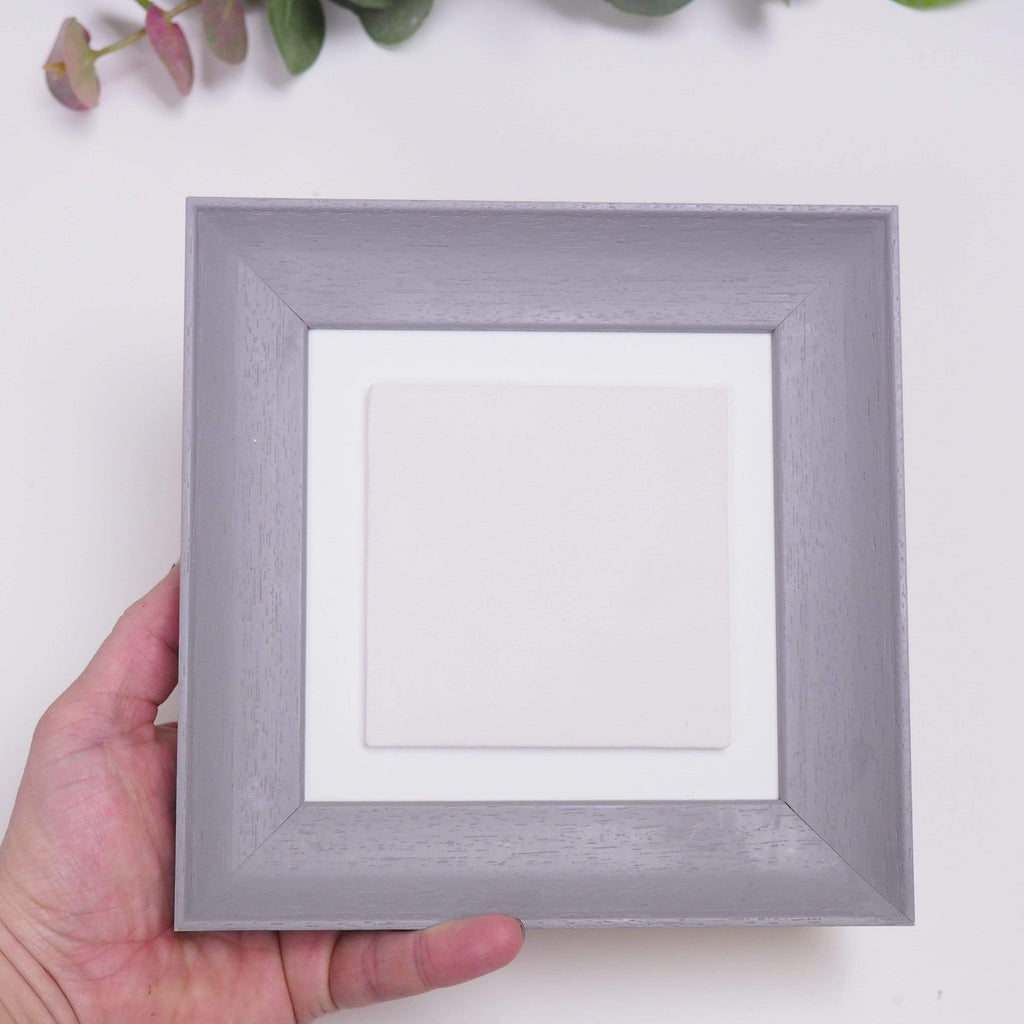 Periwinkle and Clay Photo Tiles Single Extra Large Tile Photo Frame - Grey Soft Curve