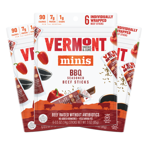 BBQ Beef 0.5 oz Mini Meat Stick Go Packs (6 count, 3 packs)