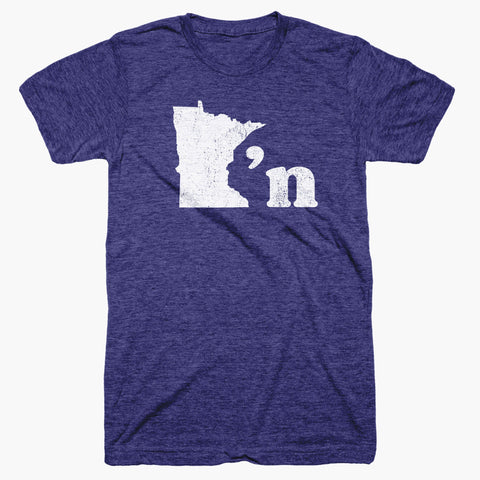 Minnesotan Indigo & White T-Shirt - MSP Clothing