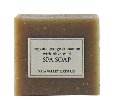 Organic Orange Cinnamon Mud Spa Soap
