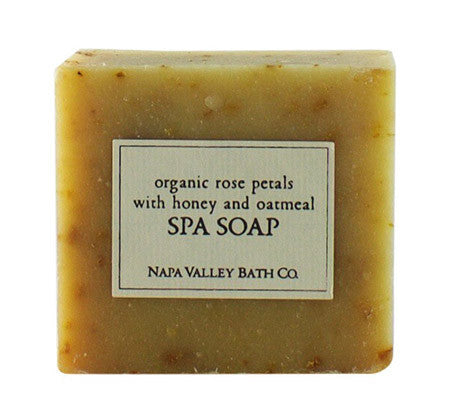 Organic Rose Petals with Honey and Oatmeal Spa Soap