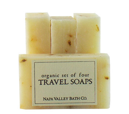Four Pack Organic Travel Soap
