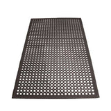 "Winco RBM-35K Black 1/2"" Thick 3' X 5' Anti-Fatigue Rubber Floor Mat"