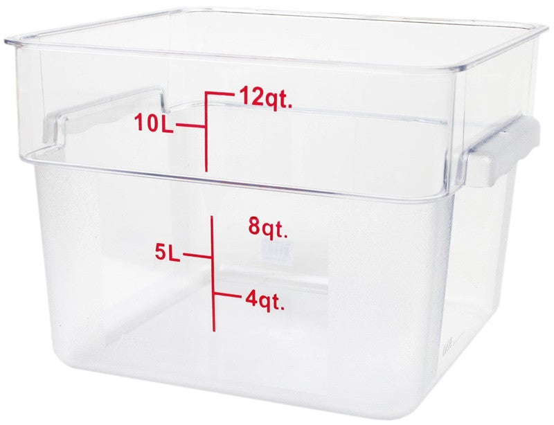 Thunder Group PLSFT012PC 12 QT Clear Polycarbonate Food Storage