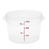 Winco PPRC-12W 12 Qt White Round Storage Container