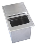 "BK Resources BK-DIBL-1218 Drop-In Ice Bin, with lid, 12""W x 18""D x 14-3/8""H, 18/304 stainless steel base, 14/304 stainless steel top - Champs Restaurant Supply 