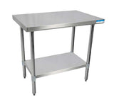 "18"" X 30"" Stainless Steel Top Work Table w/ Stainless  Steel Legs and Shelf"