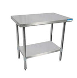 "18"" X 36"" Stainless Steel Top Work Table w/ Stainless  Steel Legs and Shelf"