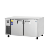 "Everest ETWF2 60"" Double Door Undercounter Freezer (Side Mount)"