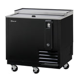 "Turbo Air TBC-36SB-N6 36"" 1 Sliding Door Stainless Steel Underbar Bottle Cooler"