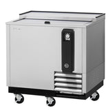 "Turbo Air TBC-36SD-N6 36"" 1 Sliding Door Stainless Steel Underbar Bottle Cooler"