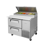 "Turbo Air TPR-44SD-D2-N 44"" Double Drawer Pizza Prep Table"