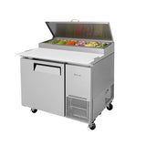 "Turbo Air TPR-44SD-N 44"" Single Door Pizza Prep Table"
