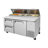 "Turbo Air TPR-67SD-D2-N 67"" Double Drawer Pizza Prep Table"