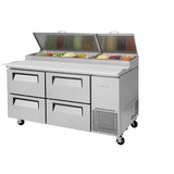 "Turbo Air TPR-67SD-D4-N 67"" Four Drawers Pizza Prep Table"