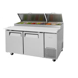 "Turbo Air TPR-67SD-N 67"" Double Door Pizza Prep Table"