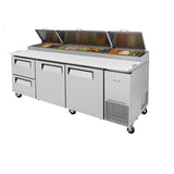 "Turbo Air TPR-93SD-D2-N 93"" Two Drawers and Two Doors Pizza Prep Table"