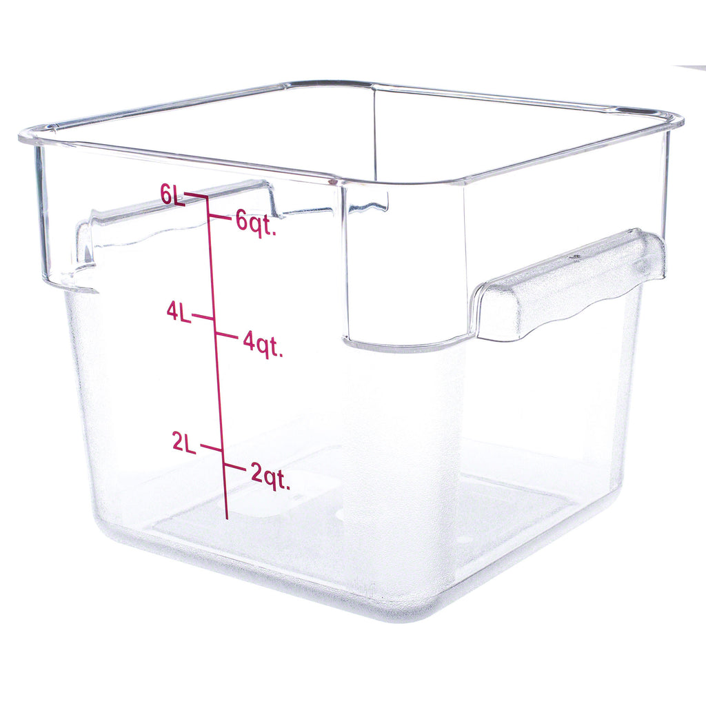... Polycarbonate Food Storage Containers. Previous; Next  sc 1 st  Ch&s Restaurant Supply & Thunder Group PLSFT006PC 6 QT Clear Polycarbonate Food Storage ...