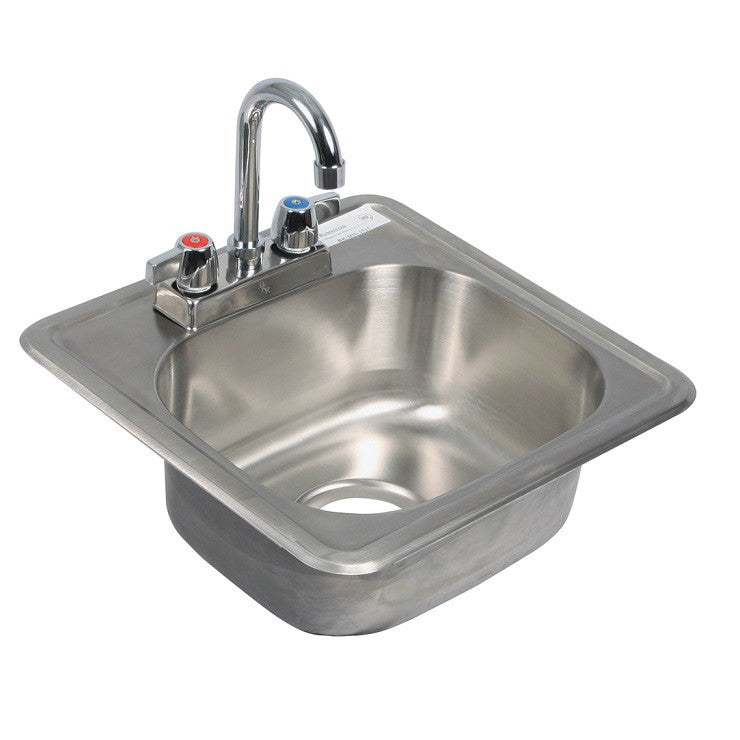 9844cb64395 BK Resources BK-DIS-1515-P-G Drop-In Sink with Faucet. Previous  Next